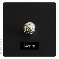 1 perle filigranée 14mm en métal - argent