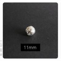 1 perle filigranée 11mm en métal - argent