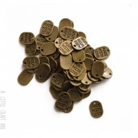 """[ GROS LOT ] 50  breloques  """"made with love """" - bronze"""
