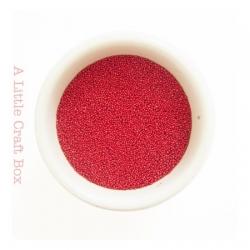 10g micro bille en verre - rouge