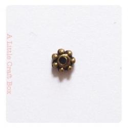 "30 intercallaires ""dentelle"" 4mm -  bronze"
