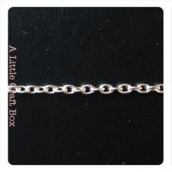1m de chaine à maillon droit 2.5x3.5mm - argent