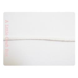 1m de suédine imitation daim 2.5mm - blanc